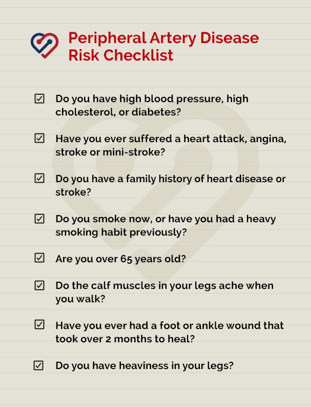 PAD checklist